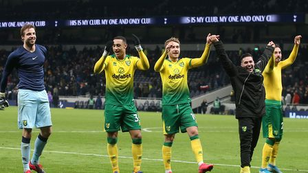 Norwich beat Tottenham in a penalty shoot-out in the FA Cup fifth round in March Picture: Paul Chest