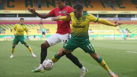 Norwich City were eliminated from the FA Cup after a 2-1 defeat to Manchester United. Picture: Paul