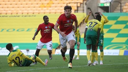 Maguire's late winner has ensured United progress to the semi-finals of the competition. Picture: Pa