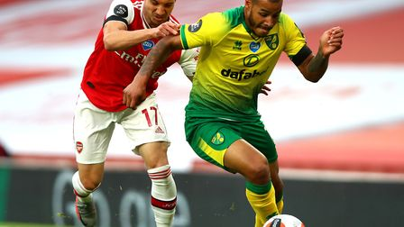 Onel Hernandez was introduced at half-time of Norwich City's 4-0 Premier League defeat to Arsenal Pi