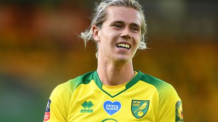 Todd Cantwell scored but was forced off through injury in Norwich City's FA Cup defeat to Manchester