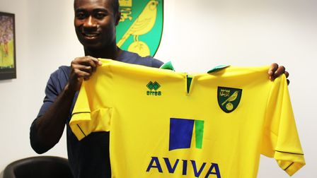 Alex Tettey when he signed for Norwich City Picture: NCFC
