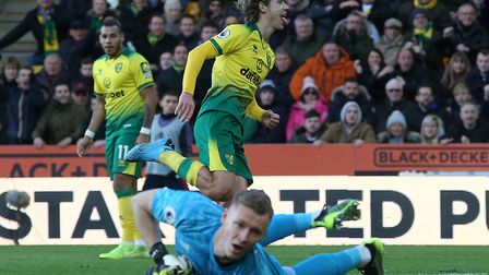 Todd Cantwell put Norwich 2-1 up against Arsenal at Carrow Road in December - but the Gunners fought
