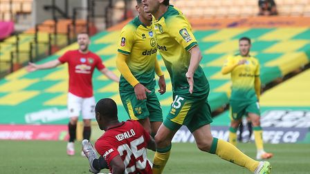 Timm Klose misses Norwich City's game at Arsenal after being sent off for hauling down Odion Ighalo