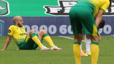 Norwich City players dropped to the turf at the final whistle of the 1-0 Premier League defeat to Br