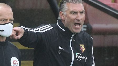 Watford manager Nigel Pearson had some warm words for Norwich City rival Daniel Farke Picture: Paul