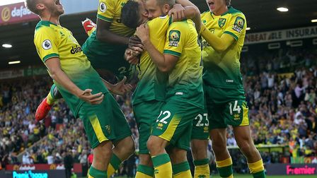 The good old days? City celebrate Teemu Pukki's winner against then champions, Manchester City Pictu