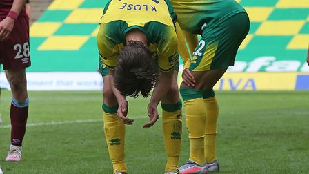 Timm Klose has endured a tough return to the ranks at Norwich City after a long term injury Picture: