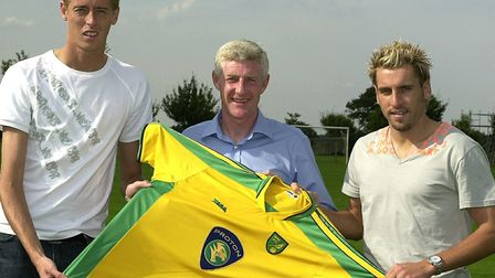 Peter Crouch was signed alongside City legend Darren Huckerby in 2003. Picture: Archant