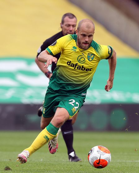 Teemu Pukki in action against West Ham at the weekend Picture: Paul Chesterton/Focus Images Ltd