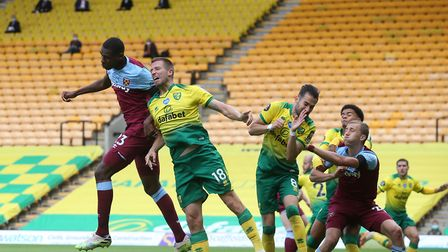 Issa Diop and Marco Stiepermann in aerial action Picture: Paul Chesterton/Focus Images Ltd