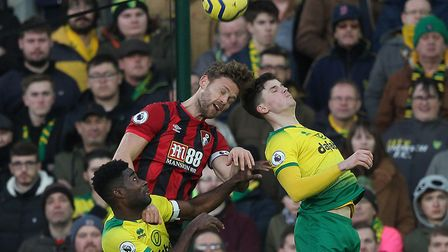 Sam Byram's aerial ability proved an important asset for Norwich City Picture: Paul Chesterton/Focus