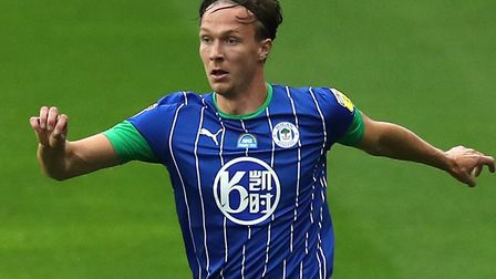 Norwich City's latest signing, Kieran Dowell, during his time with Wigan last season Picture: PA
