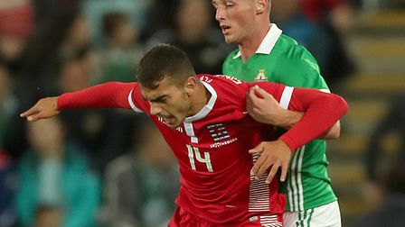 Danel Sinani, on international duty for Luxembourg Picture: PA