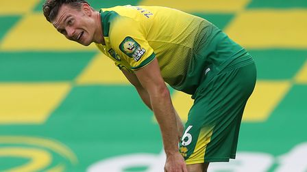Christoph Zimmermann returned from injury for Norwich City's Premier League home finale against Burn