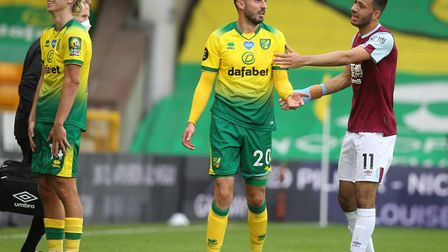 Josip Drmic was the second Norwich player sent off before half-time during Saturday's home defeat to