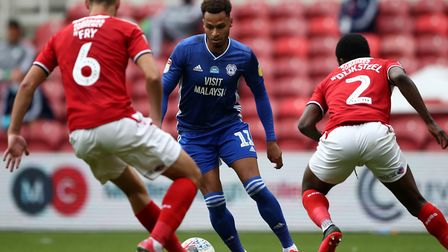 Josh Murphy in Championship action for Cardiff against Middlesbrough Picture: Tim Goode/PA Wire