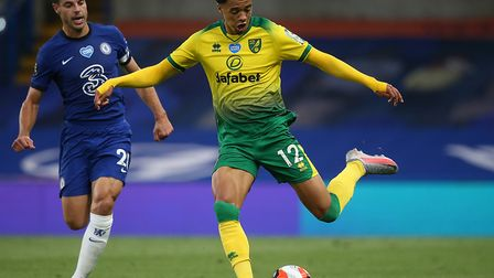 Jamal Lewis on the attack during Norwich City's 1-0 loss at Chelsea last week Picture: Paul Chestert