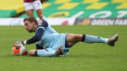 Tim Krul made a series of saves to prevent the scoreline from being significantly worse. Picture: Pa