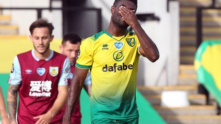 Canaries captain Alex Tettey was feeling the strain after Burnley's opener just before half-time at