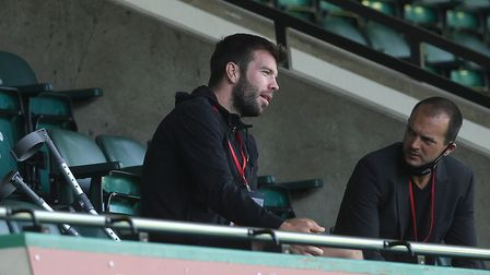 Grant Hanley watched Norwich City's extra-time defeat to Manchester United in the FA Cup quarter-fin