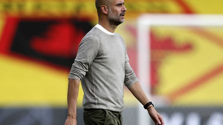 Manchester City manager Pep Guardiola led his team to a 4-0 win at Watford on Tuesday Picture: Adria