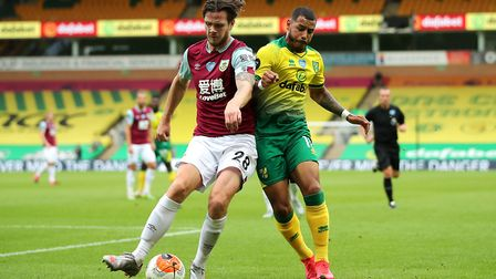 Onel Hernandez, one of Norwich City's better players in recent weeks, during the game against Burnle
