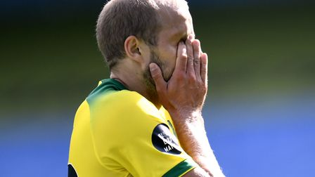 Norwich City's Teemu Pukki during the Premier League match at the Etihad Stadium, Manchester Picture