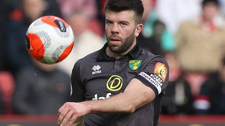 Grant Hanley in action for Norwich during a 1-0 loss at Sheffield United prior to the Premier League