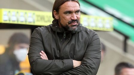 Norwich head coach Daniel Farke has some words od advice for his young players Picture: Paul Chester