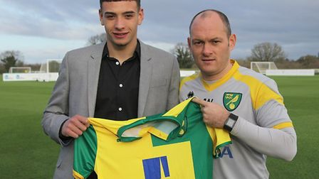 Godfrey has come a long way since signing for the club in 2016. Picture: Norwich City