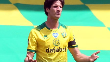 Timm Klose a difficult spell as he returned from injury with Norwich CIty in relegation trouble Pict