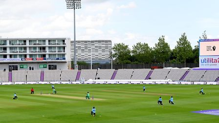 England and Ireland cricketers take a knee before the Second One Day International at the Ageas Bowl