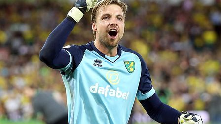 Tim Krul was crowned Norwich City's player-of-the-year in the voting from Canaries' fans Picture: Pa