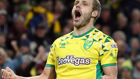 Teemu Pukki leads the line for Norwich City at Manchester City in the Premier League Picture: Paul C