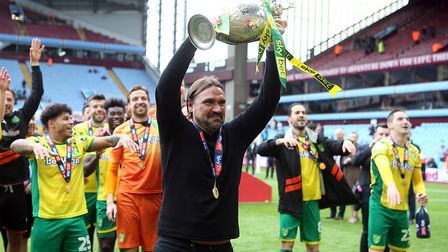 Only a year ago, Farke was lifting the Championship trophy. Picture: Paul Chesterton/Focus Images Lt