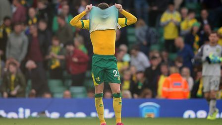Kenny McLean after the 5-1 mauling by Aston Villa at Carrow Road in October Picture: Paul Chesterton