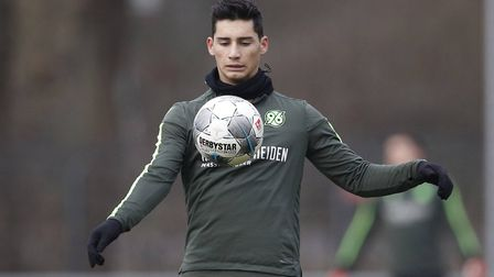 Sebastian Soto during his Hannover days Picture: Imago/PA Images