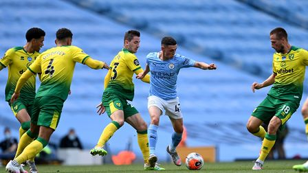 Norwich City were outclassed in a 5-0 Premier League loss at Manchester City Picture: Shaun Botteril