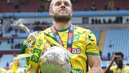 Teemu Pukki with the Championship trophy last year Picture: Paul Chesterton/Focus Images Ltd