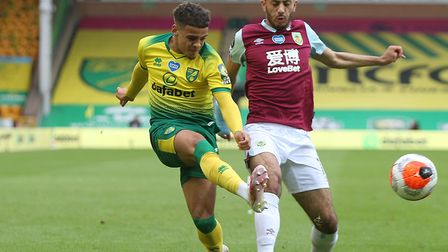Max Aarons played the most minutes of Norwich City's outfield players in the Premier League last sea