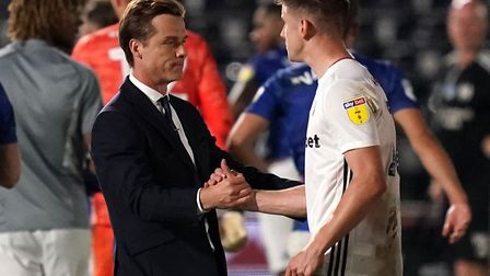 Fulham manager Scott Parker (left) and Tom Cairney celebrate reaching the Championship play-off fina
