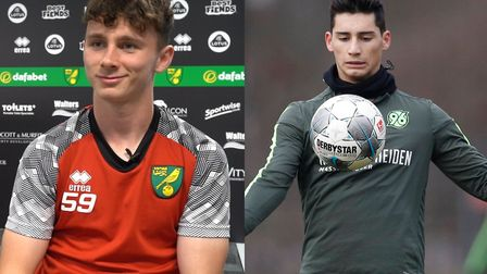 Norwich City duo Dan Adshead and Sebastian Soto are poised to join SC Telstar on loan. Picture: Arch