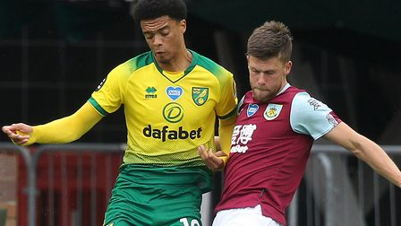 Norwich City left-back Jamal Lewis was the subject of a bid from Liverpool Picture: Paul Chesterton/