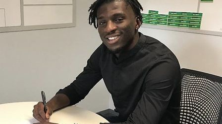 Norwich City signed Belgium U21 defender Rocky Bushiri last year Picture: Norwich City FC