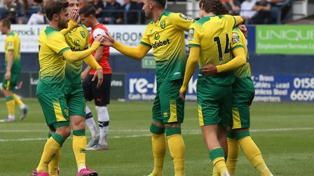 Josip Drmic scored a hat-trick as Norwich won a friendly 5-1 at Luton during pre-season in 2019 Pict