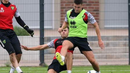 Aidan Fitzpatrick in pre-season training with Norwich City's under-23s in Germany last summer Pictur