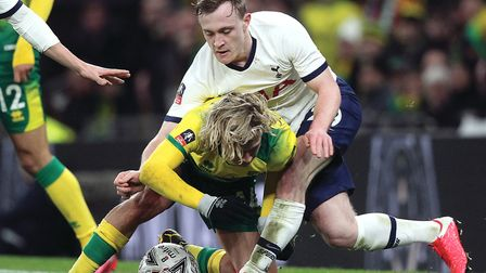 Oliver Skipp in action for Tottenham against Norwich City in the FA Cup Picture: Paul Chesterton/Foc