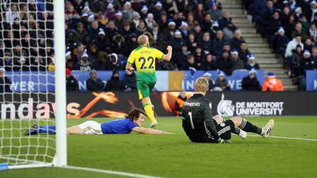 Pukki's last goal from open play came against Leicester City in December. Picture: Paul Chesterton/F