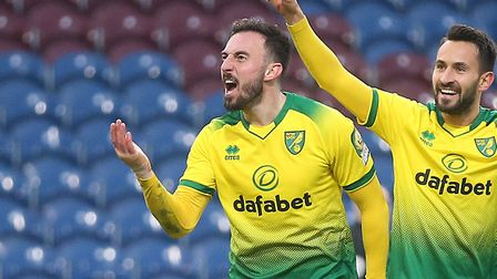 Josip Drmic celebrates scoring against Burnley in the FA Cup in January Picture: Paul Chesterton/Foc